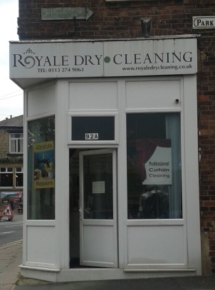 Royale Dry Cleaning may not look very interesting, but writer Alan Bennett lived here as a child, when his father ran a butcher's shop here.