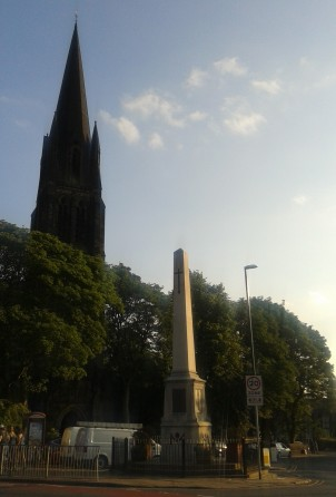The Headingley War Memorial, outside St Michael's Church, lists the names of people from Headingley who died in the First World War 1914-1918.