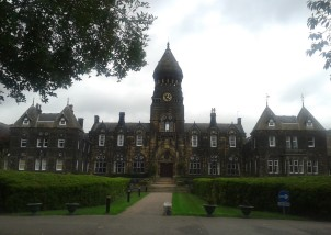 Set back from Otley Road, the imposing Hinsley Hall was built in 1867. It is now a conference centre owned by the Catholic Diocese of Leeds.