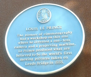 This blue plaque at Broadcasting Place commemorates cinematography pioneer Louis Le Prince. You can see his historic first film at https://www.youtube.com/watch?v=wTlXaqG4VyE